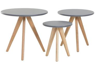 Tables basses - lot de 3 tables dappoint - gris - VEGAS