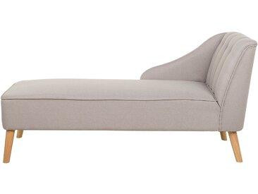Chaise longue en tissu beige SEVIS