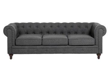 Canapé Chesterfield design en couleur gris CHESTERFIELD