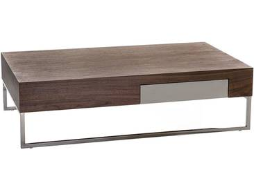 Table basse - table de salon - 120x70 cm - brun - GUARDA