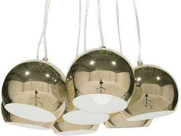Lampe suspension dorée OLZA
