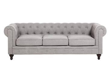 Canapé Chesterfield en couleur gris clair design CHESTERFIELD