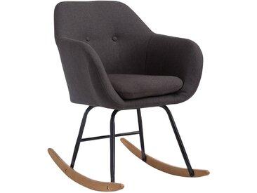 CLP Chaise à bascule Avalon tissu, gris foncé CLP  gris foncé