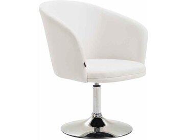 CLP Chaise Lounge Arcade Similicuir, blanc CLP  blanc