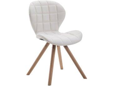 CLP Chaise visiteur Alyssa similicuir piètement rond, blanc CLP  blanc