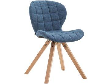 CLP Chaise visiteur Alyssa tissu piètement carré, bleu CLP  bleu