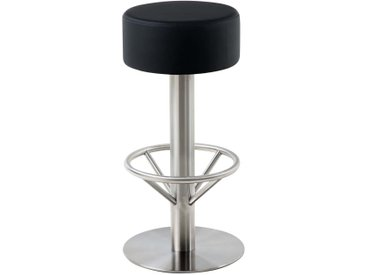 CLP Tabouret de bar Pisa V2 similicuir, noir CLP  noir