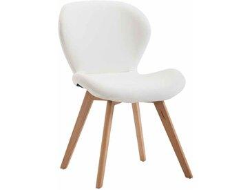 Timwood Experience Chaise de salle à manger Fitz similicuir, blanc CLP  blanc