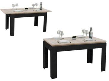 Table de séjour extensible THOR Chêne et noir