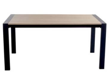Table rectangle + 1 allonge CAMDEN Chêne sonoma/noir