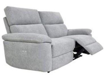 Canapé 3 places 2 relax électriques ORION tissu gris clair