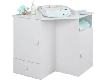SOLDES - Meuble table à langer dangle bébé LUNA Blanc