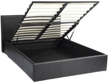 SOLDES - Lit coffre 140x190 ROMA2 Noir
