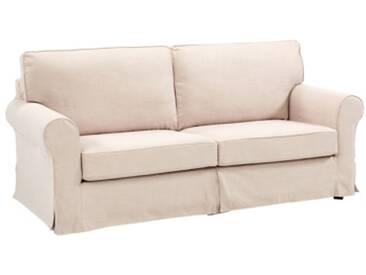 Canapé 3 places déhoussable LYSE tissu Beige