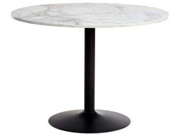 Table ronde Elias décor marbre