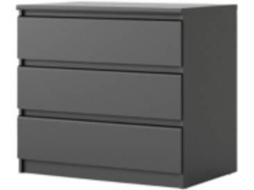 Commode 3 tiroirs BEST LAK noir mat