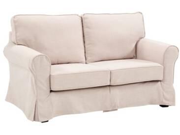 Canapé 2 places déhoussable LYSE tissu Beige