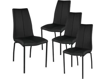 Jaren - Lot de 4 Chaises Noires