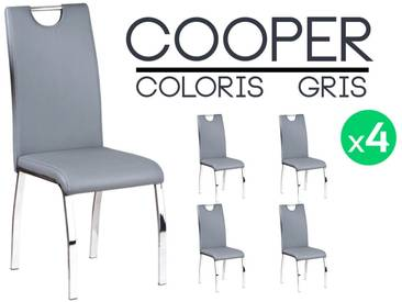 Cooper - Lot 4 Chaises Grises