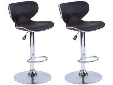 Angel  - Lot de 2 tabourets de Bar Marron