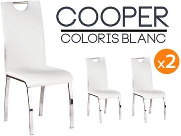 Cooper - Lot 2 Chaises Blanches