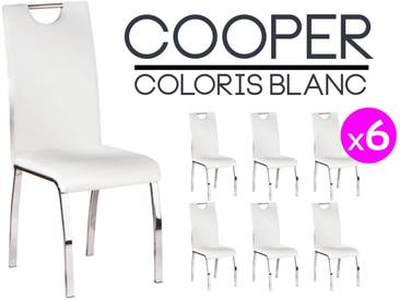 Cooper - Lot 6 Chaises Blanches