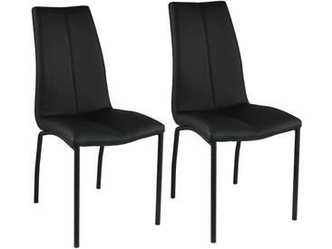 Jaren - Lot de 2 Chaises Noires