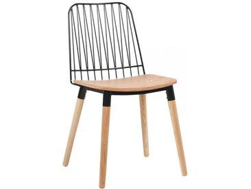 Chaise bohème en bois et métal - Danemark