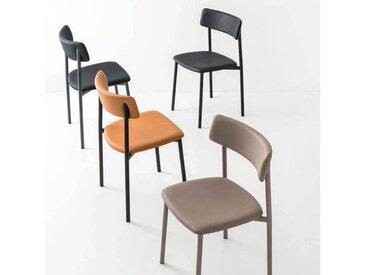 Chaise rembourrée pieds métal - Up Connubia®