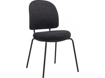 Chaise confortable avec assise et dossier rembourrés - Lilas