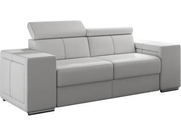Canapé moderne 2 places en pvc blanc