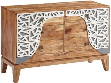 Commode  vintage 6 tiroirs en bois massif dacacia  115x75x45 cm collection C-Kitakawa