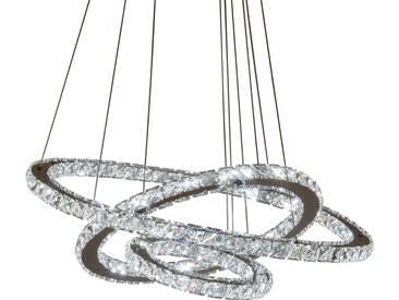 Suspension design contour cristal Ø 20+40+60 cm LED 2700-3200K blanc chaud collection C-Marceli