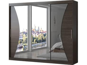 SOLDES - Armoire design 3 portes coulissantes 250 cm coloris marron