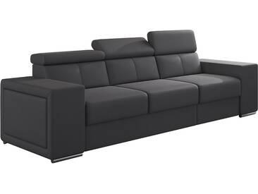 Canapé moderne 3 places en pvc gris