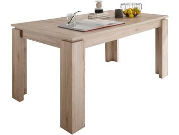 SOLDES - Table à manger extensible coloris chêne San Remo