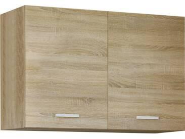 Meuble haut de cuisine style contemporain 100 cm avec 2 portes coloris sonoma