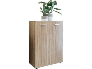 Commode dentrée avec 2 portes 71x104x35cm meuble multi-usages en coloris chêne Sonoma Meuble de rangement moderne collection C-William