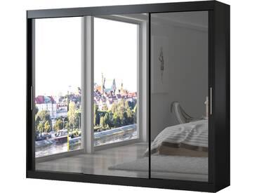 SOLDES - Armoire contemporaine à 3 portes coulissantes 250 cm coloris noir