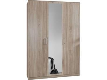 SOLDES - Armoire 135x199 cm à 2 portes + 1 porte-miroir coloris chêne naturel