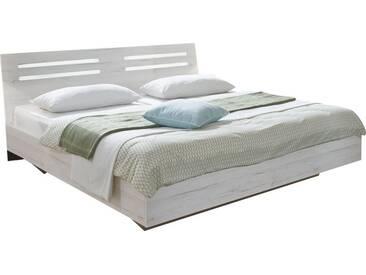 SOLDES - Lit design coloris chêne blanc 160x200 cm