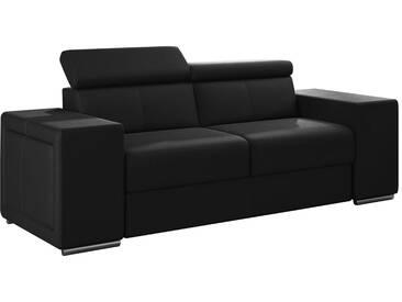 Canapé moderne 2 places en pvc noir