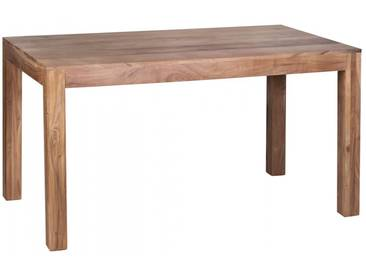 Table à manger 140x80 cm en bois massif coloris acacia collection C-Steven