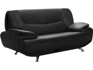 SOLDES - Canapé 2 places design en pvc coloris noir