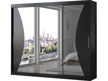 SOLDES - Armoire design 3 portes coulissantes 250 cm coloris noir