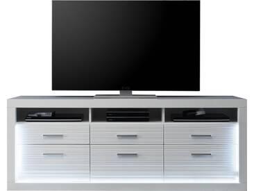 SOLDES - Grand meuble TV coloris blanc brillant