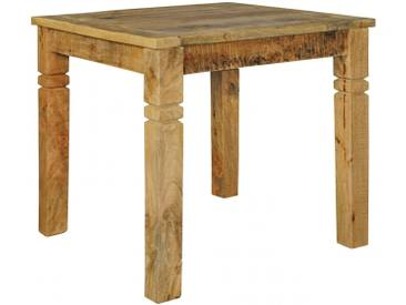 Table à manger carrée 80 x 80 cm en bois de manguier massif coloris naturel collection C-Joonas