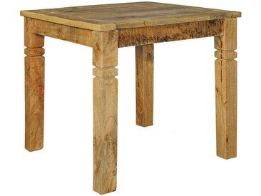 Table à manger carrée 80 x 80 cm en bois de manguier massif coloris naturel collection C-Joonas