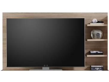 SOLDES - Support TV avec 3 tablettes 164 cm en panneaux de particules coloris chêne sonoma