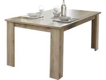 Table de salle à manger contemporaine 180 cm coloris chêne san remo